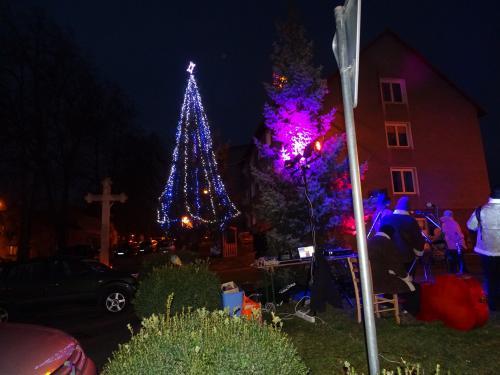 Rozsvicování vánočního stromu